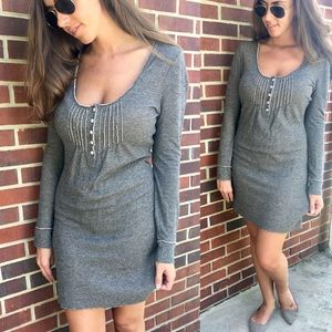 Long Sleeve Grey & Nude Boutique Dress